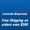 Your order shipped with Loomis Express where available